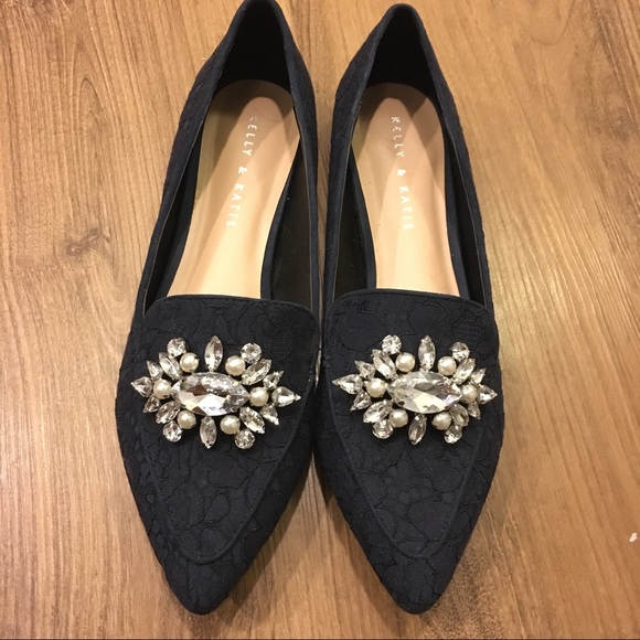 420b28a8114 DSW Shoes - Kelly   Katie Jeweled Flats - Navy